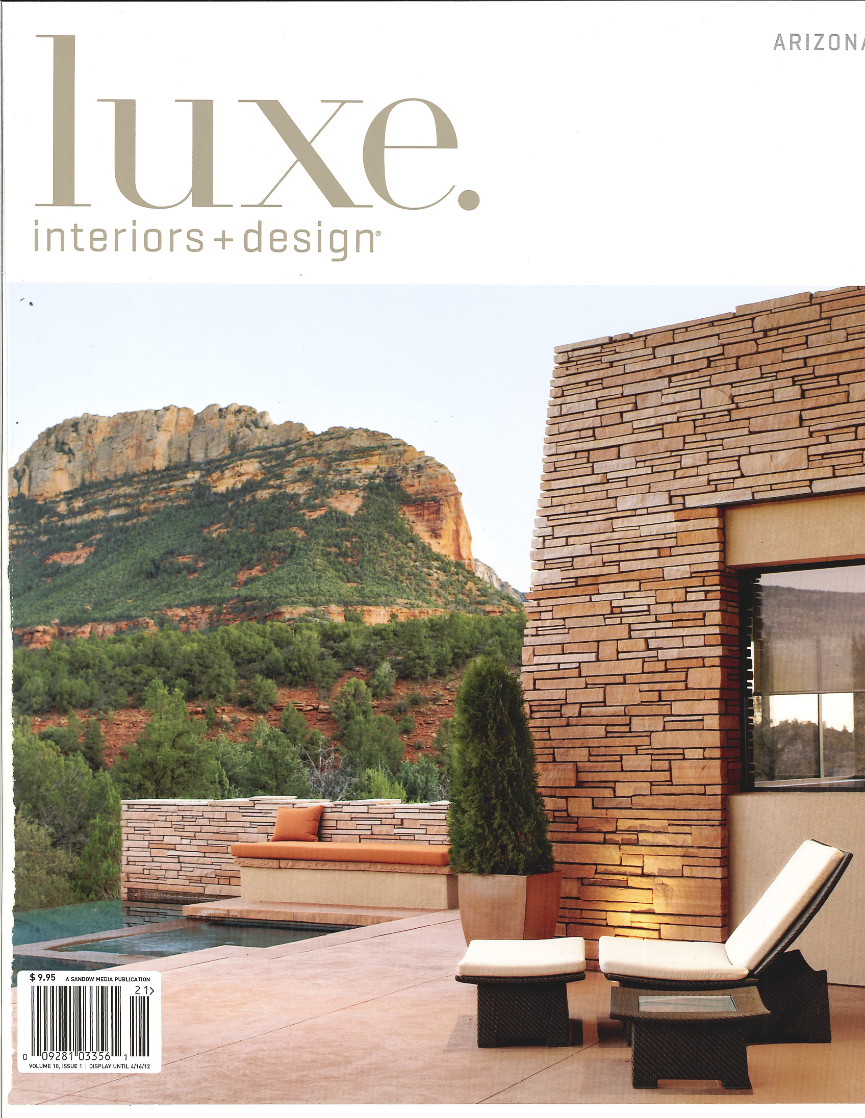 phx architecture makes the cover of luxe magazine - Luxe Interiors And Design Magazine