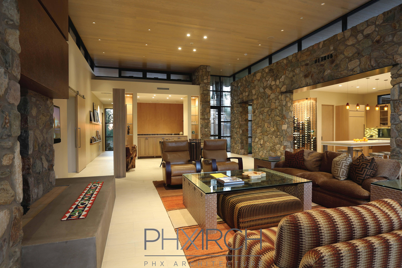 ... Custom Home Interiors Project Spotlight Contemporary Dc Ranch Home  Living ...