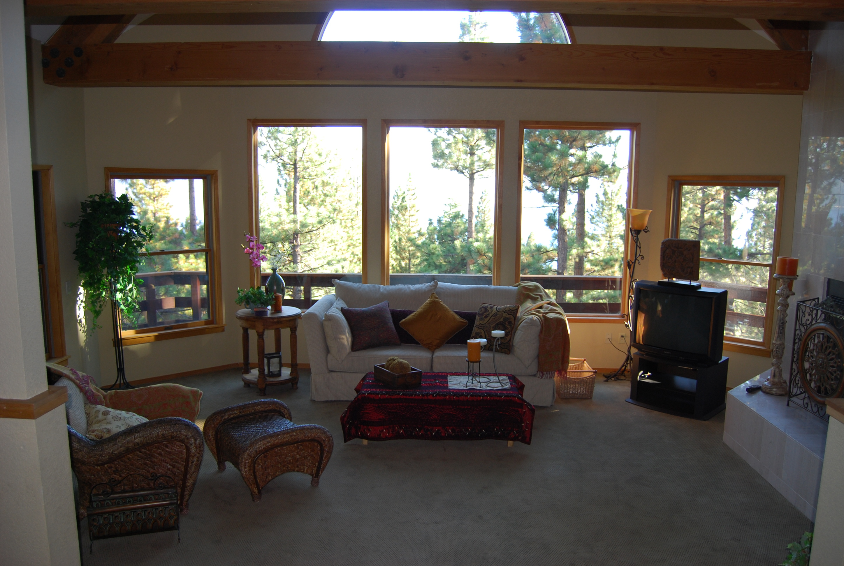 Mountain home remodel phx architecture - Living room remodel before and after ...