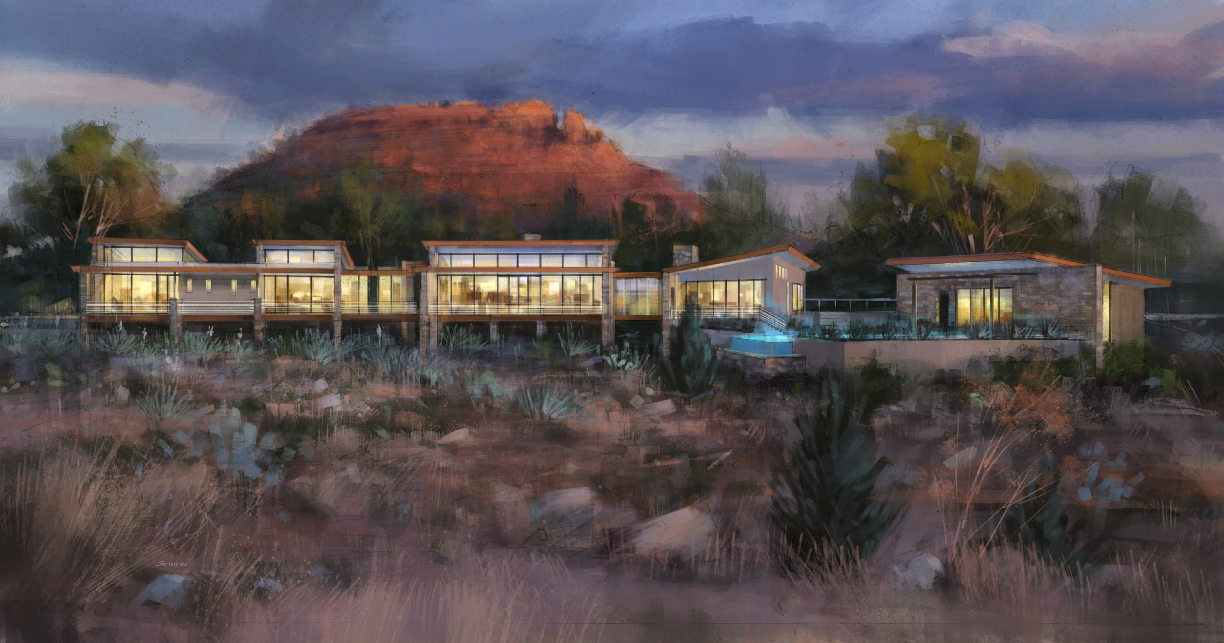 sedona contemporary home living architecture by phx