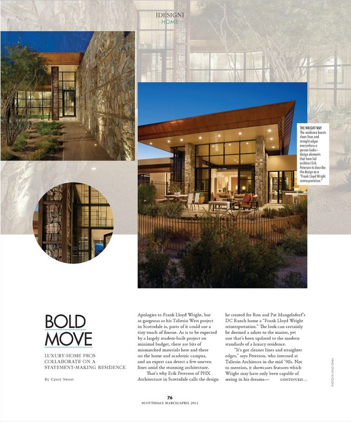 Scottsdale modern luxury magazine phx architecture for Modern home architecture magazine