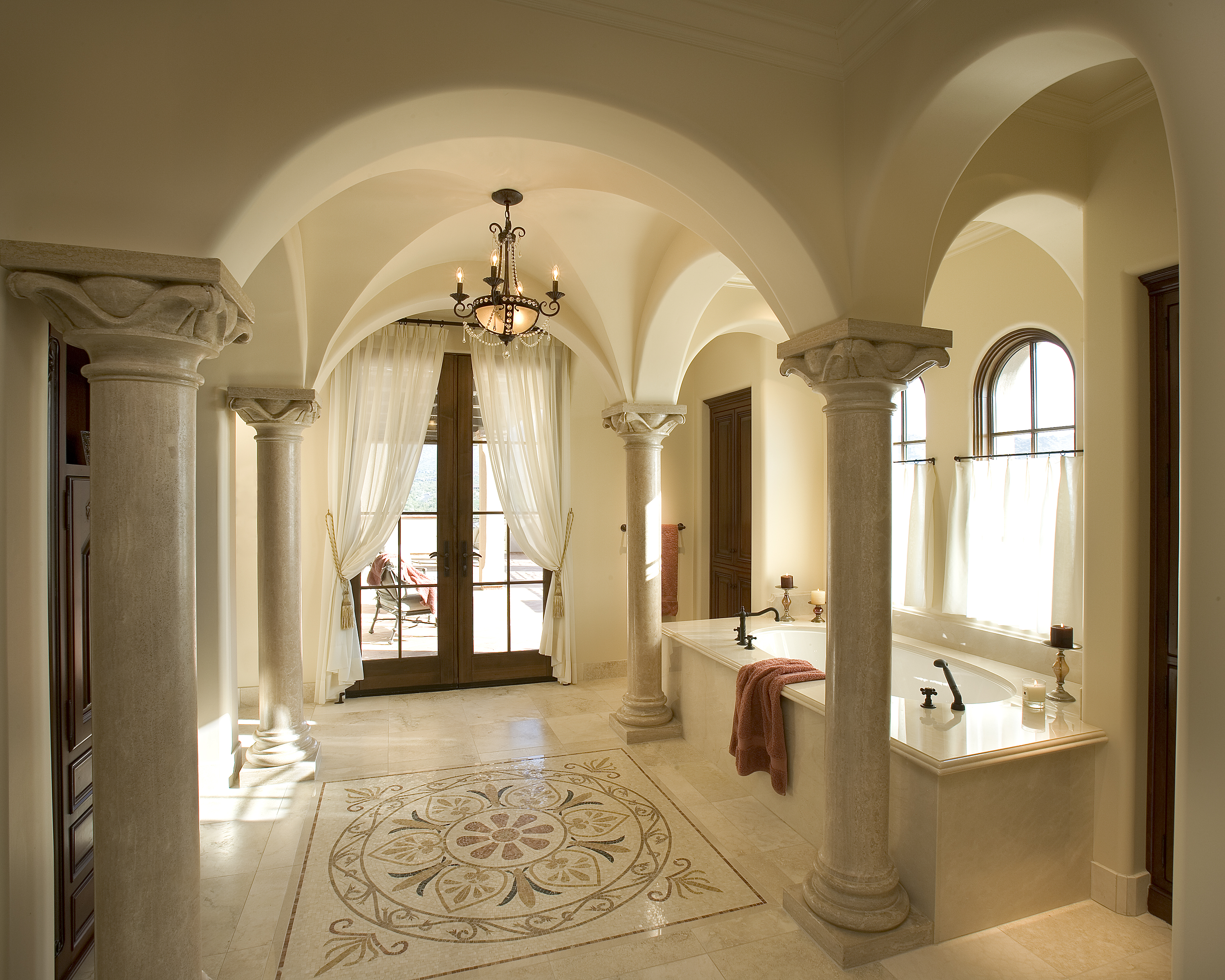 timeless architecture: formal mediterranean style - living